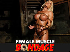 Female Muscle Bondage - powerful female bodybuilders' bulging muscle strain as they struggle to get out of their restraints