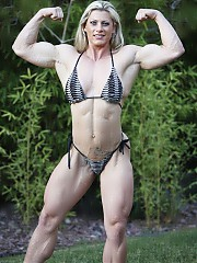 Muscular female body.